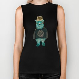 cookie and big blue Biker Tank