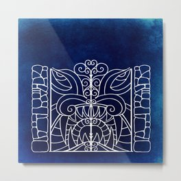 Threshold Guardian (blue) Metal Print