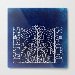 Threshold Guardian (blue) Metal Print
