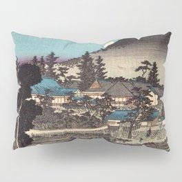 Night View of An'yô-ji Temple at Maruyama by Hasegawa Sadanobu - Japanese Vintage Ukiyo-e Woodblock Pillow Sham