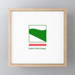 flag of Emilia romagna Framed Mini Art Print
