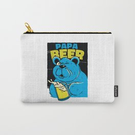 Papa beer - Bear dad drinking beer Carry-All Pouch