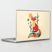 bruno mars Laptop & iPad Skins featuring Rainbow Fox by Andy Westface