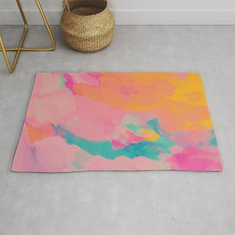 full color abstract sunset Rug