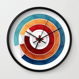 Geometric Modern Digital Abstracr Wall Clock