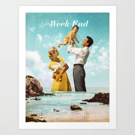 Week End Art Print