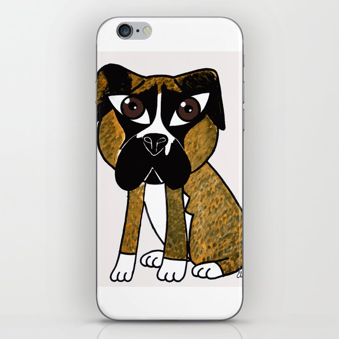 Greta, the dog that stares at you iPhone Skin