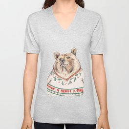 Have A Bear-Y Christmas Unisex V-Neck