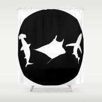 sharks Shower Curtains featuring SharkS by Khaled Sheta