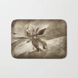 Pale Yellow Poinsettia 1 Antiqued Bath Mat