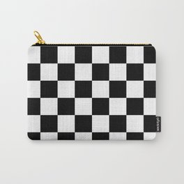 Checkered Pattern: Black & White Carry-All Pouch