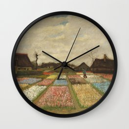"Vincent van Gogh ""Bulb Fields, also known as Flower Beds in Holland"" Wall Clock"