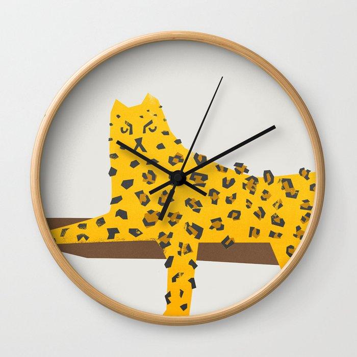 Leopard Lazy Wall Clock