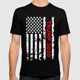 Trump 2020 print, Patriotic Pro 45th President Trump Tee T-shirt