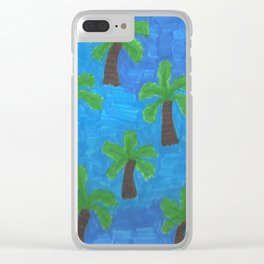 Palm Trees in the Ocean Clear iPhone Case