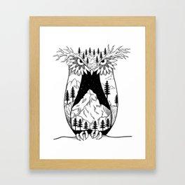 Mothernature Owl Framed Art Print