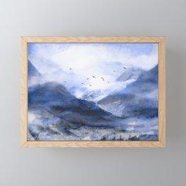 Blue Mountain Framed Mini Art Print
