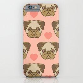 I LOVE PUGS iPhone Case