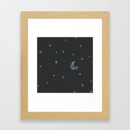 Mom & Dad's Night Sky Framed Art Print