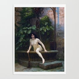 TRUTH COMING OUT OF HER WELL TO SHAME MANKIND - JEAN-LEON GEROME Poster