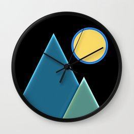 Sun, wind and mountains  Wall Clock