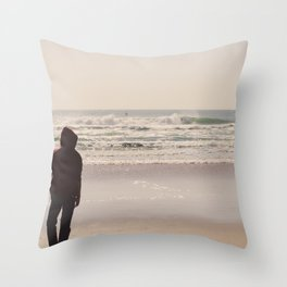 Le coin du surfeur Throw Pillow