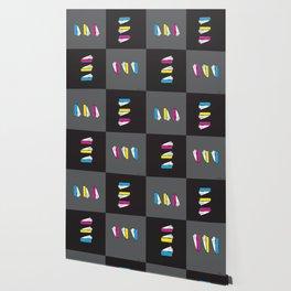 3 Pies Checkerboard - CMYKbg Wallpaper