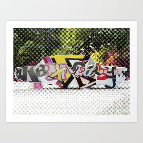 LetterCar / mobile BuchStabenSalat 3 Art Print