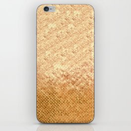 Rose Gold Textured Glimmer iPhone Skin