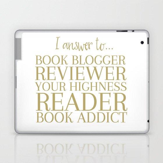 I Answer To Book Blogger Laptop & iPad Skin