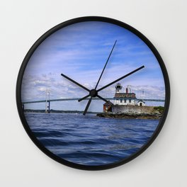 Rose Island and Newport Rode Island Bridge combo Wall Clock