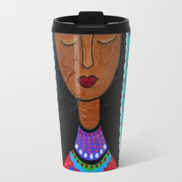 Mexican Folk Art Virgin Guadalupe Painting Travel Mug