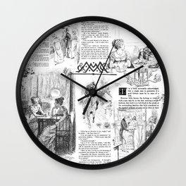 Pride and Prejudice - Pages Wall Clock