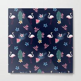 Flamingo Pattern 4 Metal Print