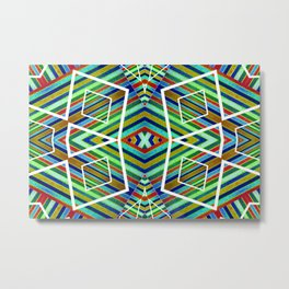 Colorful Geometric Tribal Abstract Pattern Style  Metal Print