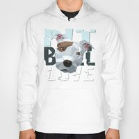 pit bull Hoodies featuring Pit Bull by Benjamin Ring