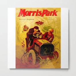 Morris Park Auto Race, vintage poster, race poster Metal Print