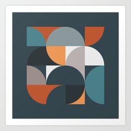Mid Century Geometric 11/2 Art Print