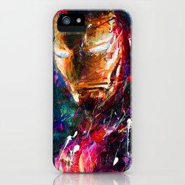 BRUSH STROKE IRONMAN iPhone Case