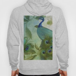 Peacock and Magnolia II Hoody