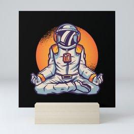 Astronaut meditation astronaut yoga galaxy fun Mini Art Print