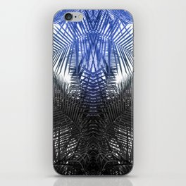 Blue and Gray fern iPhone Skin