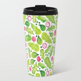 Green Salad pattern Travel Mug