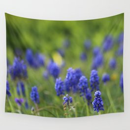 Grape Hyacinth in Spring Wall Tapestry