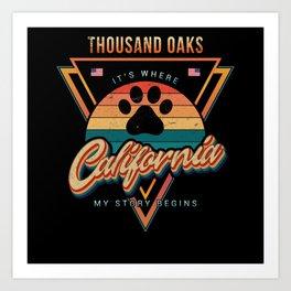 Thousand Oaks California Art Print