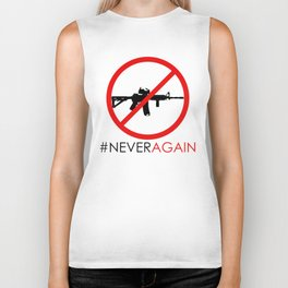 Never Again Slogan Protest Against School Violence Say No to Assault Weapons Biker Tank