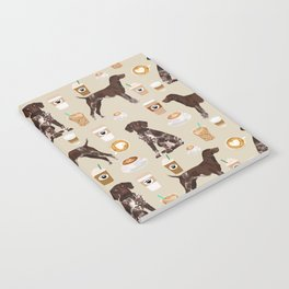 German Shorthair Pointer dog breed custom pet portrait coffee lover pet friendly gifts Notebook
