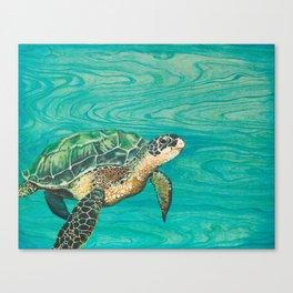 Honu (Sea Turtle) Original Acrylic Painting Canvas Print