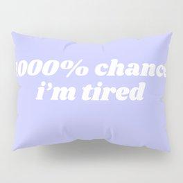 1000% chance i'm tired Pillow Sham