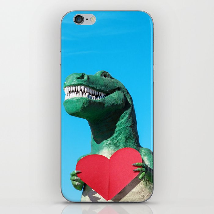 Tiny Arms, Big Heart: Tyrannosaurus Rex with Red Heart iPhone Skin